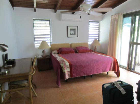 Mango Bay Resort: our bedroom, clean comfy bed