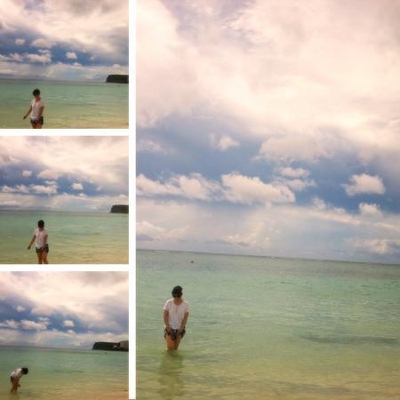 Hyatt Regency Guam: 괌 하얏트 호텔앞 바다