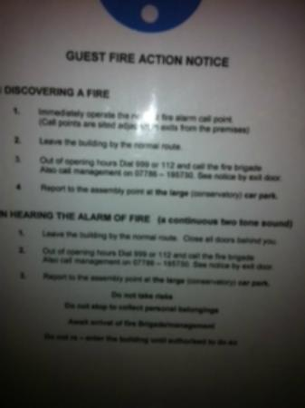 The Three Daggers: fire instruction - yes I will stop and make sure I have your number