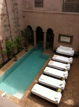Riad Noir d'Ivoire: view from our room balcony