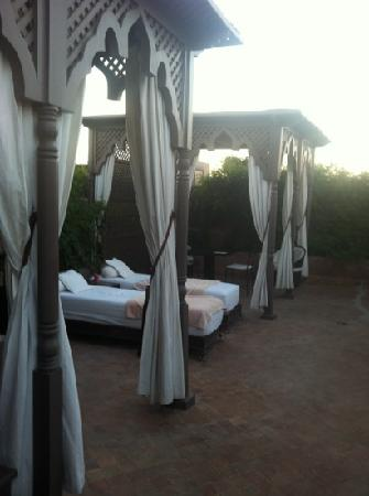 Riad Noir d'Ivoire: our private terrace