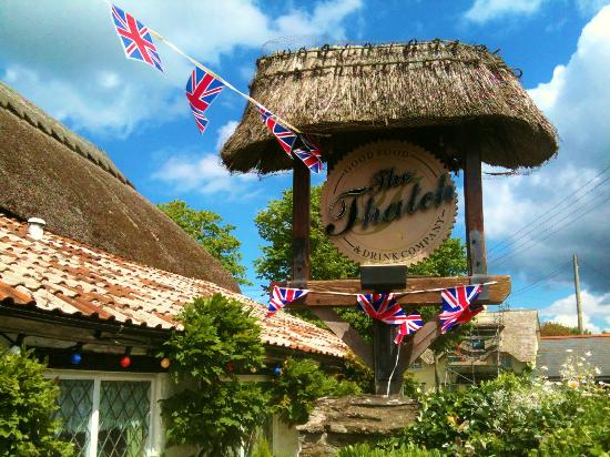 Mitchum's Campsites: My jubilee view from The Thatch's beer garden :)