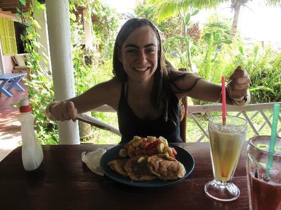 Hotel Casa Rosada: banana pancakes!!!