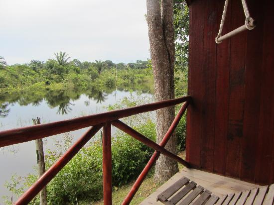 Amazon Turtle Lodge: Blick vom Balkon