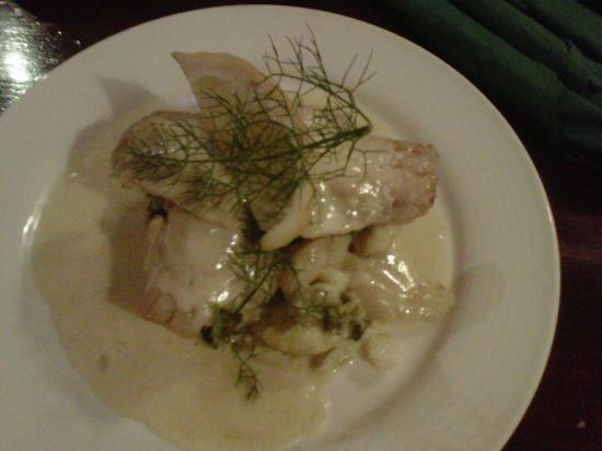 The Cellar Restaurant: Pollock and sauted potatoes