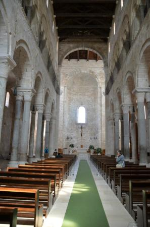 Trani: Inside the upper level of Cathedral
