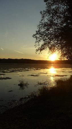 Savanna, IL: Sunset at boat launch across the street
