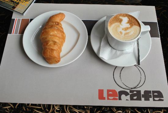 LeCafe: Croissant and cappuccino at Le Café
