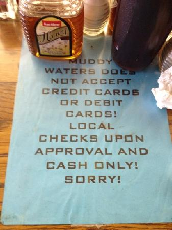 Muddy Waters: cash only!