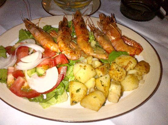 Taverna Kostas: King Prawns- Delightful!