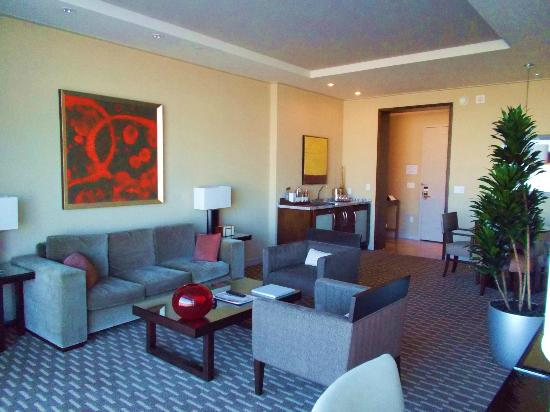 ARIA Sky Suites: Living and Dining area of suite with wet bar and fridge