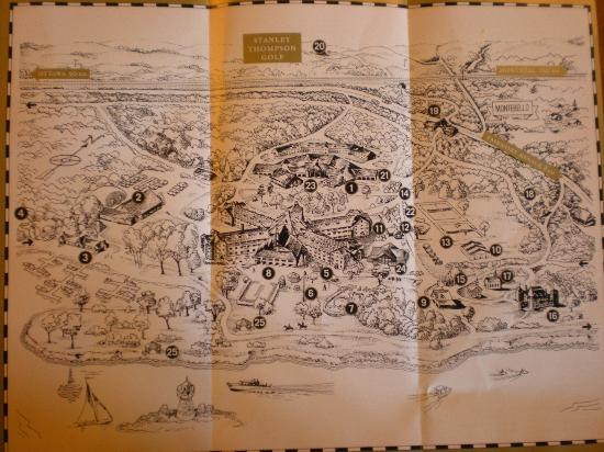 Map of hotel complex Picture of Fairmont Le Chateau Montebello