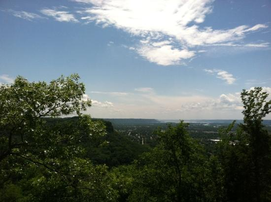 La Crosse, WI: looking out from bluff