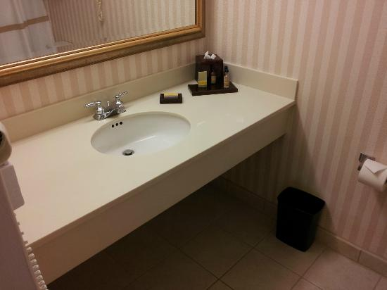 Teaneck Marriott at Glenpointe: Bathrooms are ok but could use some updating