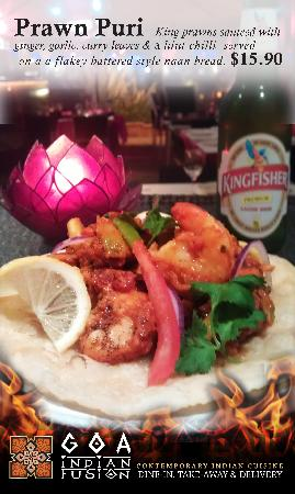Goa Indian Fusion: Addition to our new menu which is coming soon. This Delicious fusion of flavours is also availab