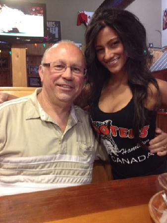 Hooters: Michele and me