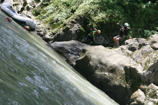 Tico's River Adventures: Roberto takes the plunge,
