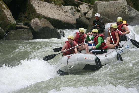 Tico's River Adventures: Heading into some rapids
