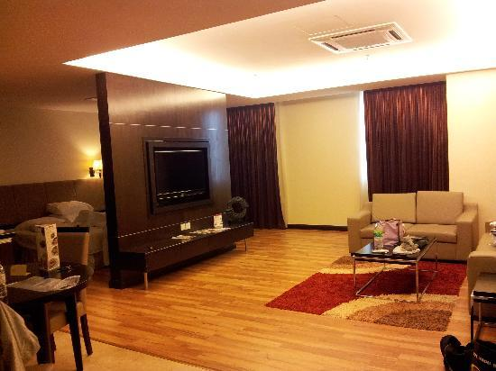 Hotel Grand Paragon: A Rotating LCD TV Panel To Divide The Huge Room In To