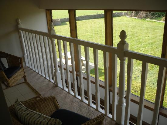 Weston Sands Holiday Homes: View of communal garden from upstairs