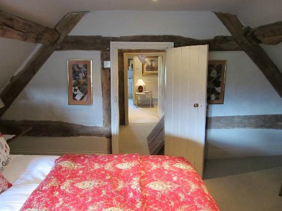 Yew Tree House: Top-floor room actually consists of 3 rooms in all (bedroom, dressing room and bathroom)