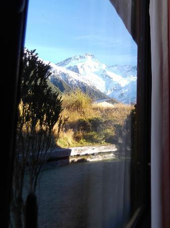 YHA Aoraki Mt Cook: View from my bunk!