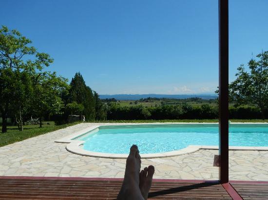 Domaine de Cure: Blick vom Pool