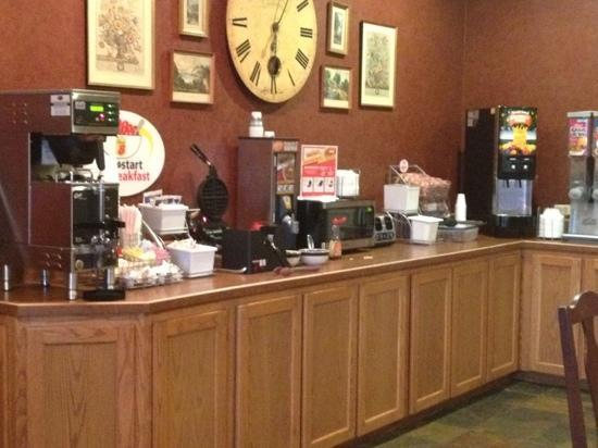 Super 8 Troy: breakfast area