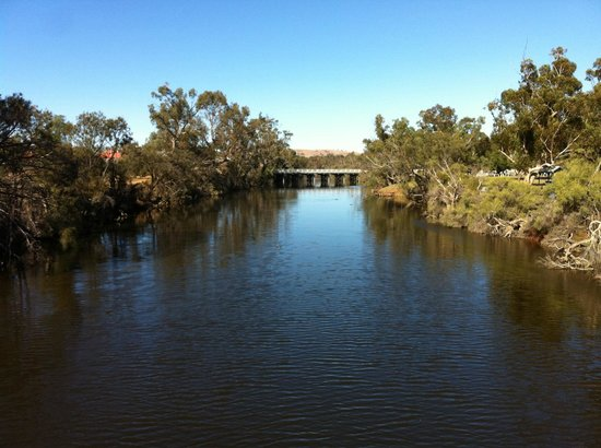 Northam, Australien: Avon River in York near bridge