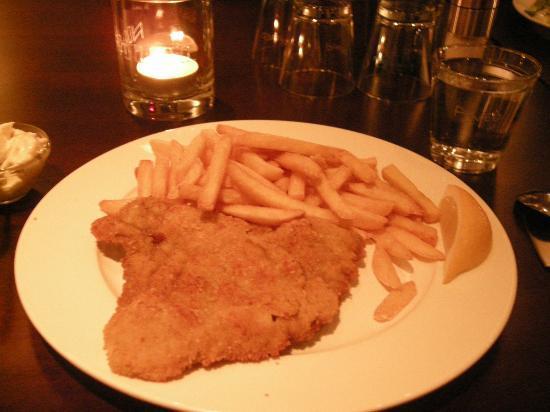 Fuerth, Germany: Wiener schnitzel for dinner