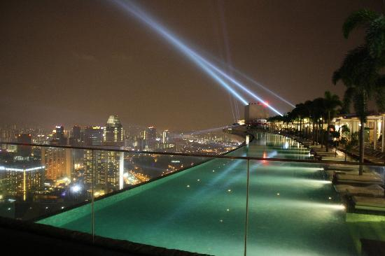 Pool By Night Picture Of Marina Bay Sands Singapore Tripadvisor