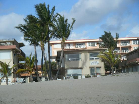 Southern Seas: view of hotel from beach