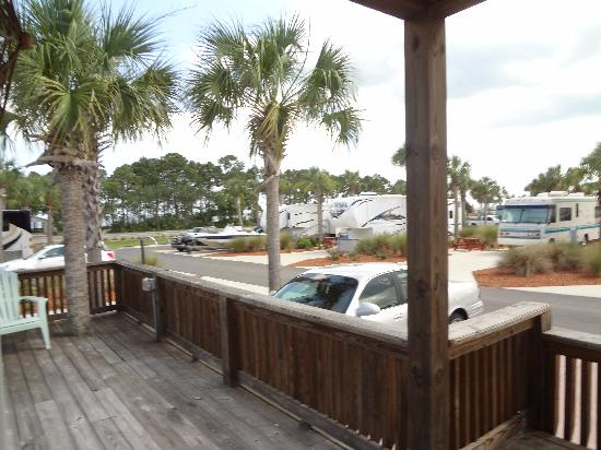 Carrabelle Beach, an RVC Outdoor Destination: deck and parking and view