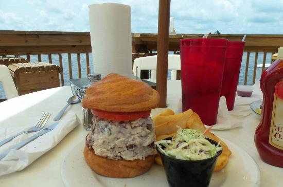 Swordfish Grill: CHICKEN WALNUT SALAD ON HOUSEMADE CROISSANT