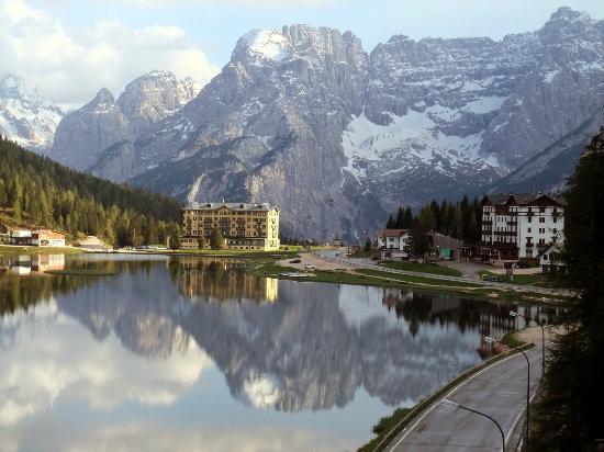 Grand Hotel Misurina: Der wunderschöne Ausblick von unserem Zimmer!