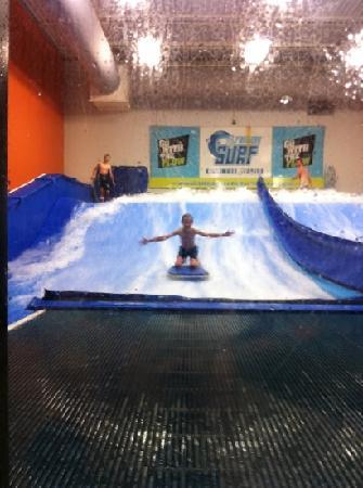 Fantasy Surf: Jesse learning to surf