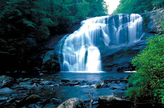 North Carolina Mountains, นอร์ทแคโรไลนา: Bald River Falls