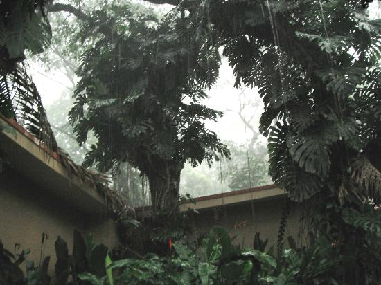 Hotel & Club Punta Leona: raining at our room