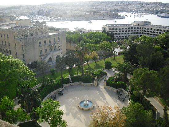 Harbour and hotel grounds viewed from room