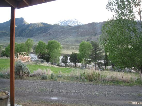 Headwaters of the Yellowstone Bed and Breakfast: View from porch and room