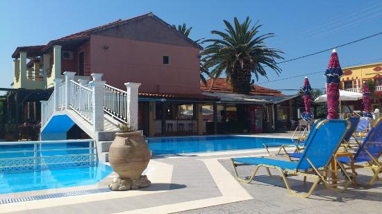 Olga Apartments: The peaceful pool area, at around 10am