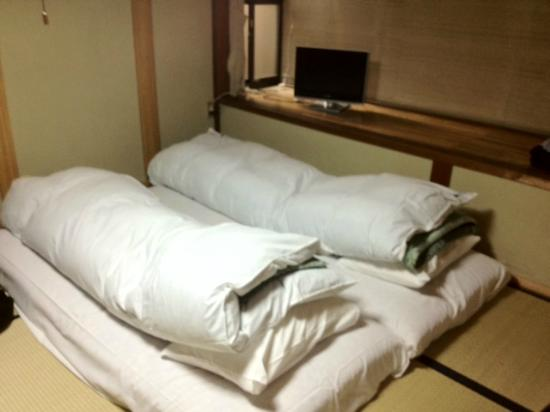 Oyado Yoshinoya : The tatami mats and bedding were comfortable