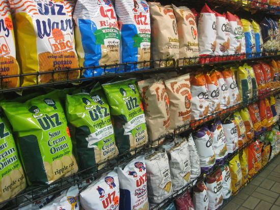 Utz Potato Chip Factory Tour: Great Wall of Chips