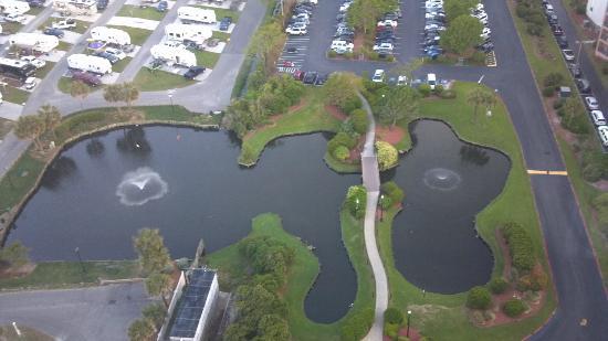 Myrtle Beach Resort: View from top floor of Tower (Looking West)