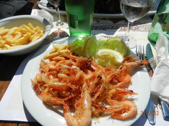 Shrimp plate at Marinero -- fresh, cheap, delicious!