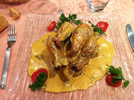 L' Alcove : coquelet sauce foie gras