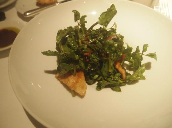 Orchids: watercress hearts of palm salad