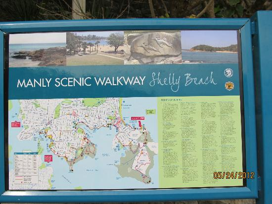 Sign from Shelly Beach