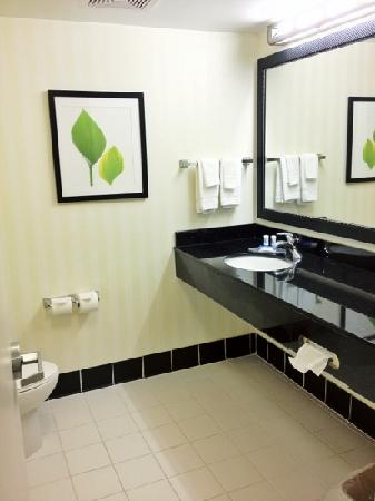 Fairfield Inn & Suites Wilmington/Wrightsville Beach: Spacious Bathroom