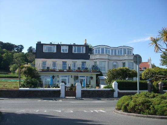 St Aubin, UK: The Au Caprice guesthouse on a sunny June morning